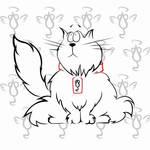 White cat by Nefer-Ra