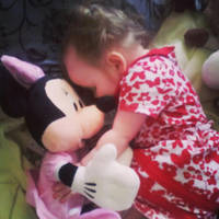 Mini Davies with Minnie Mouse by StarkSideoftheMoon