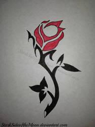 Tribal rose by StarkSideoftheMoon
