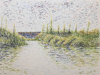 An interpretation of Monet with PITT artist pens by beautyandtruth