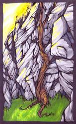 A Vine and Rocks and Stuff. by gswirly