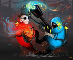 Pyro Clash by IdentityPolution