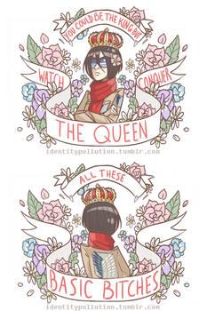 Queen Mikasa Totes and Mini Zip Bag Design by IdentityPolution
