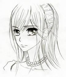 Vampire Knight: Yuuki sketch by PhoenixRage333