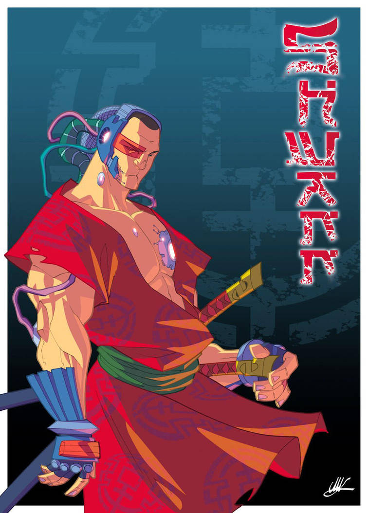 The Futuristic Samurai DJ by Shwann