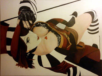 Mad Moxxi Acrylic Painting by RHH7288