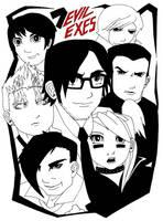7 Evil Exes - Scott Pilgrim by RHH7288