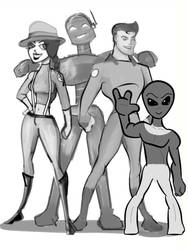 SpaceNapped Crew by monsterblues