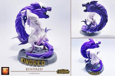 League of Legends - Kindred _ Sculpt This Again by LuisMonterieArt