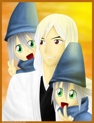 Ukitake And The Twins_Dady by renealexa