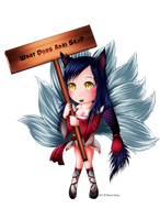 Commission - Ahri LOL by renealexa
