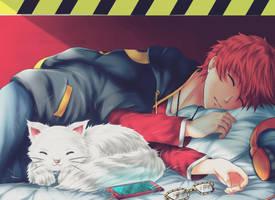 Sleeping Hacker - Mystic Messenger by renealexa