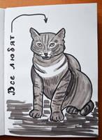 Gray cat by Irik77