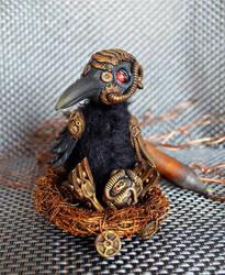 Steampunk crow 003 by Irik77