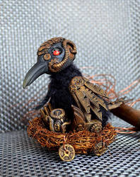 Steampunk crow 001 by Irik77