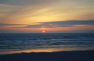 Ocean Sunset III by mackilvane
