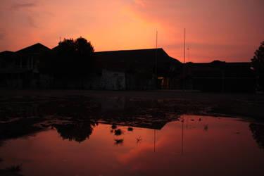 Sunset on Delayota by yogadeagar
