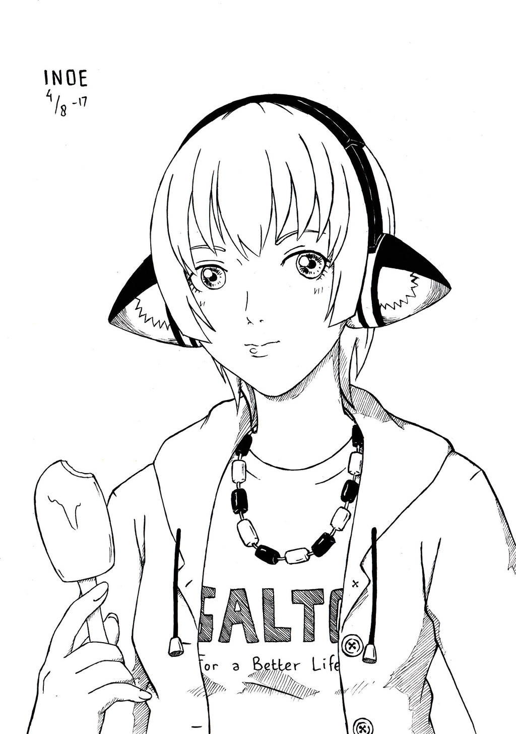 Just Draw! #13: Beast-Ear Headphones? by i-n-o-e