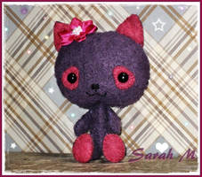 Felt Kitty plush by SailorMiniMuffin