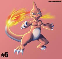 Charmeleon - Gotta Draw 'Em All #5 by Punished-Kom