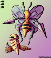 Weedle Family - Gotta Draw 'Em All #13-15 by Punished-Kom