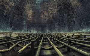 Red Turbine cooling tower 01 by Bestarns