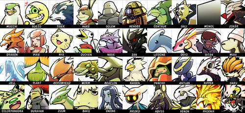 Monster Rancher Icons by BlessedWithLuck