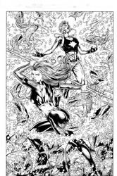 Teen Titans 84 pg 03 Inks by Mariah-Benes