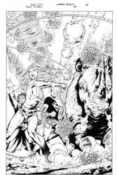 Teen Titans 84 pg 12 Inks by Mariah-Benes