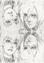 . 072+073 - Those eyes... . by Amelion