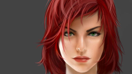 Female Commander Shepard Face by Aameeyur