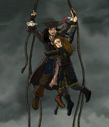 Jack and Elizabeth Fly Away by simara24