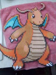 Pokemon: Perler Bead Dragonite by heatbish