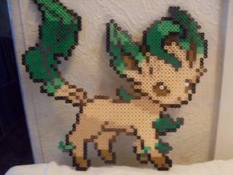 Pokemon: Perler Bead Leafeon by heatbish