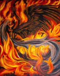 Sephiroth Fire by PhantomSephiroth