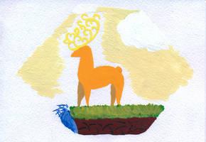 Royal Golden Deer by edelneos