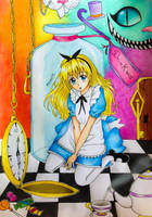 Alice in Wonderland + Drawing Video by Amana-HB