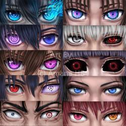 Anime Eyes by Amana-HB