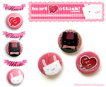Cute buttons by Heart-Attack-Design