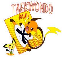 Raichu taekwondo master by author92