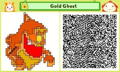 Gold Ghost Pushmo Card by thenardsofdoom