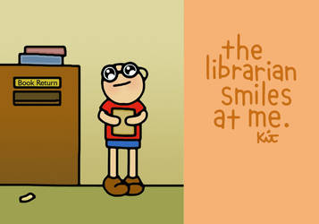 librarian smiles. by mythic-norms