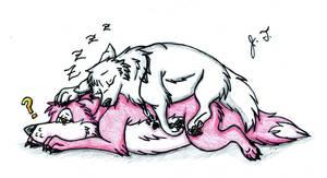 Sleeping Buddy by joshbluemacaw