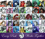 Every Pack Works Together by joshbluemacaw