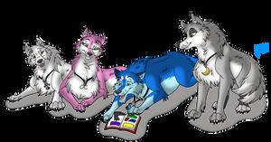 Reading Wolf Comics by joshbluemacaw