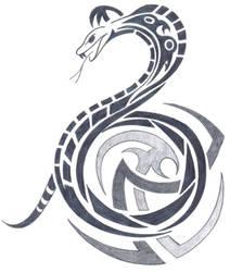 tribal snake by fallensamurai22