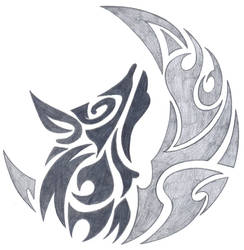 tribal howling wolf by fallensamurai22