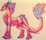 Fluffeh Dragon by konekotsukino87