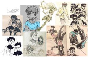 DC Sketchdump by SixofClovers