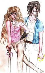 Gany and Nandra by Hubristhegentlesnake